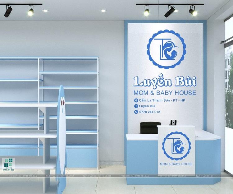 Thiết kế nội thất shop mẹ và bé tại hải phòng