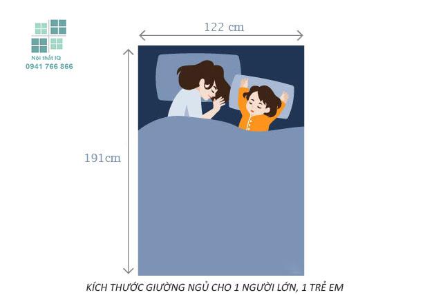 Kích thước giường đôi cỡ nhỏ