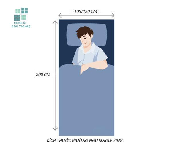 Kích thước giường ngủ Single King