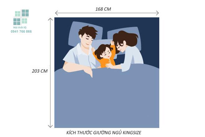 kích thước giường ngủ kingsize