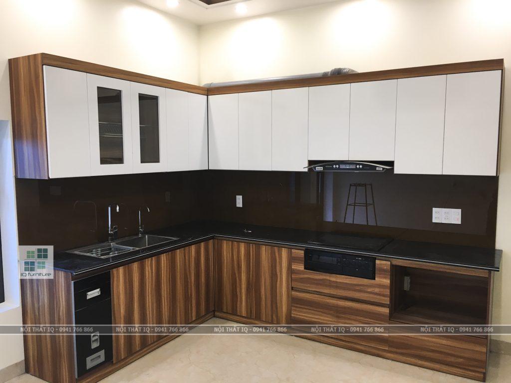 tủ bếp đẹp tại hải phòng gỗ mdf
