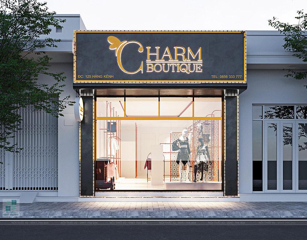 thiết kế cửa hàng quần áo hải phòng