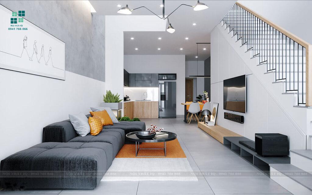 Những mẫu thiết kế phòng khách nhà ống đẹp tại Hải Phòng