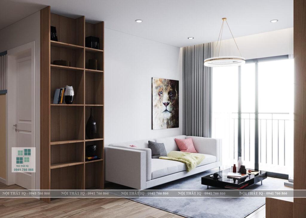 Thiết kế phòng khách 15m2 đẹp tại Hải Phòng