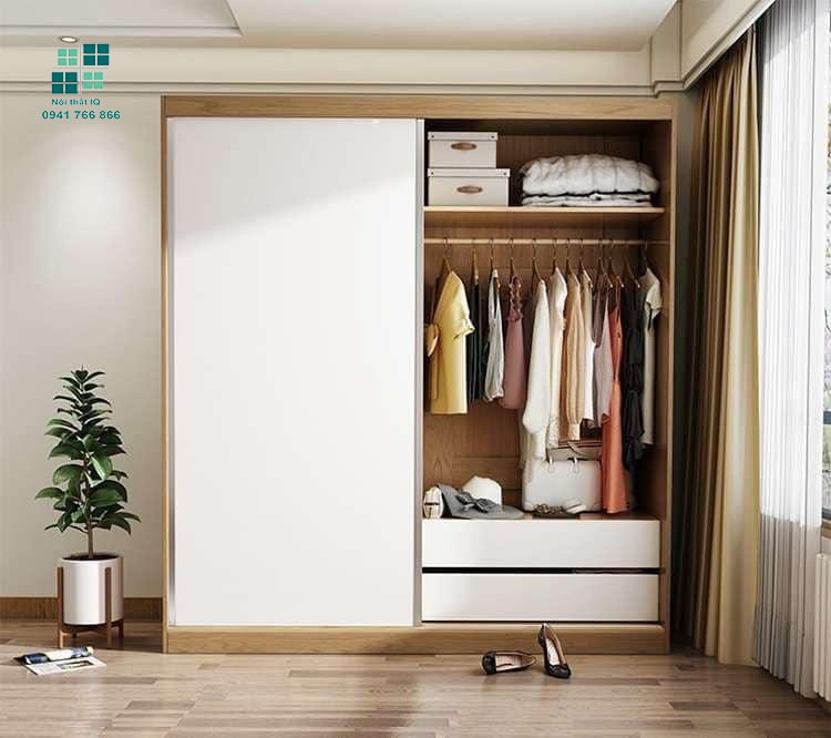 Mẫu tủ quần áo nhỏ gọn tiện lợi tại hải phòng